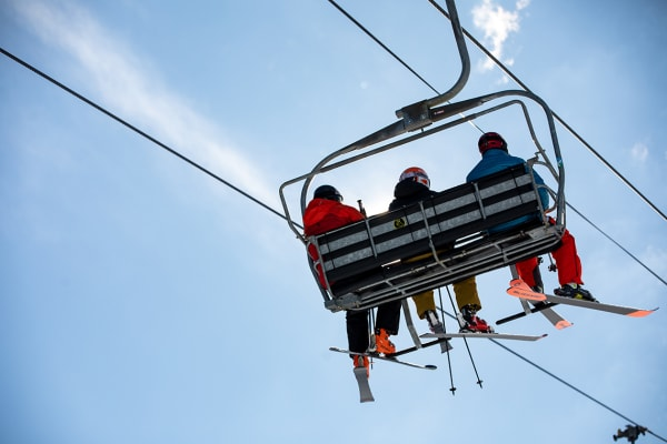 Chair lifts at Crotched Mountain