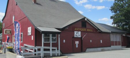 Antiques Mall of New HAmpshire - large dark red building