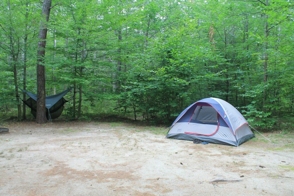 Greenfield State Park - tent in private setting