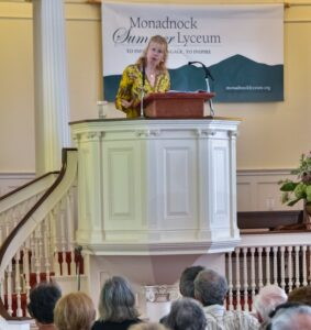 Speaker at Monadnock Lyceum from previous in-person years