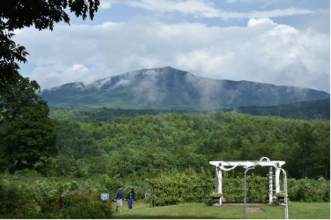 Setting at Monadnock Berries for a wedding, overlooking Mt. Monadnock