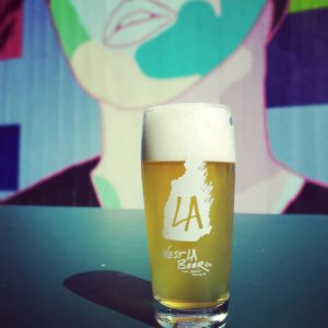 A Glass of beer at West LA Beer