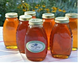 Glass jars of New Hampshire honey