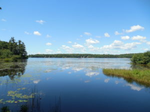 Contoocook Lake, Jaffrey, NH as seen from the Monadnock Trail