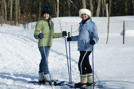 Snow-shoeing at East Hill Farm (Troy)