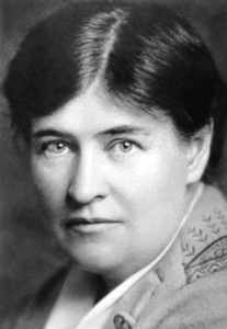 Black and white photo of a woman, Willa Cather