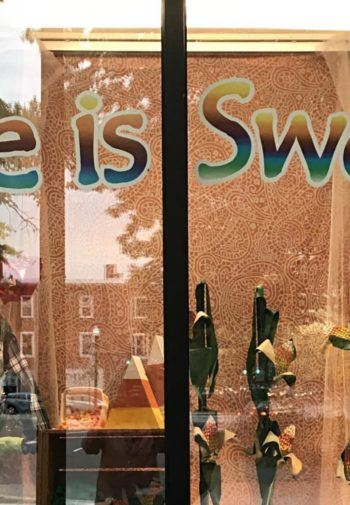 Life is Sweet store front window