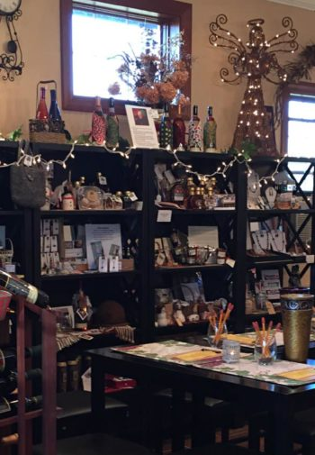 Walpole gift shop with wine and other related items for sale